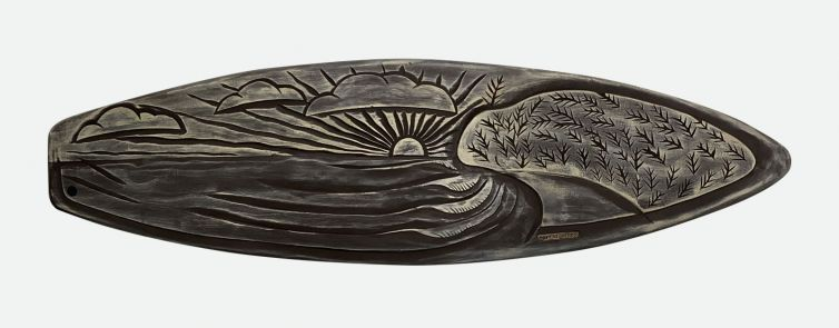Moffat Beach Carved Surfboard